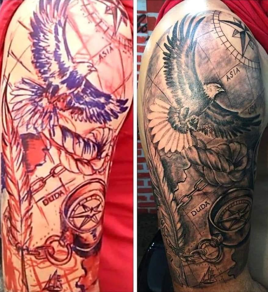 Tatuagem Realista - Marcação e Finalização
